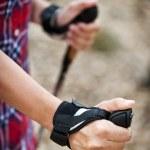 Nordic Walking hand — Stock Photo