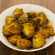 Crusty baked potatoes — Stock Photo #10838250