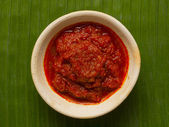 Sambal chili sauce — Stock Photo