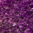 Purple amethyst stones — Stockfoto