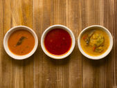 Indian curries — Stock Photo