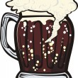 A mug of dark beer — Stock Vector