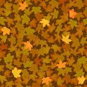 Autumn yellow maple leaf seamless pattern — Stock Vector