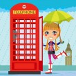 London Girl — Stock Vector