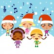 Christmas Carol Children — Stock Vector #11432410