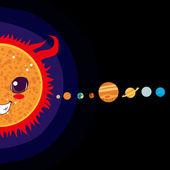 Solsystemet — Stockvektor
