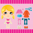 Blond Fashion Girl - Stock Vector