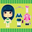 Japanese Fashion Girl — Stock Vector