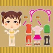 Chinese Fashion Girl — Stock Vector
