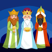 Three Wise Men — Stock Vector