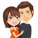 Happy Couple — Stock Vector