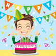 Royalty-Free Stock Vector Image: Happy Birthday Boy