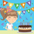 Happy Birthday Girl - Stock Vector