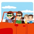 Family Car Excursion — Stock Vector #11649197