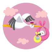 Double Stork Delivery — Stock Vector