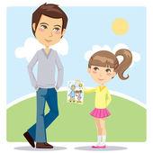 Regalo del día de los padres — Vector de stock