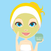 Facial Skin Care — Stock Vector