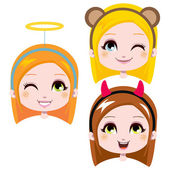 Cute Headbands — Stock Vector