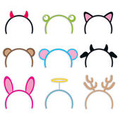 Costume Headbands Collection — 图库矢量图片