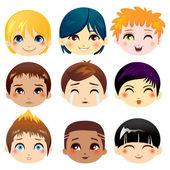 Facial Expression Collection — Stock Vector