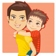 Daddy's Little Boy — Stock Vector