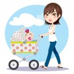 Mother Walking — Stock Vector