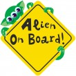 Alien on Board — Stock Vector