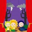 Royalty-Free Stock Obraz wektorowy: Cute Scary Theater