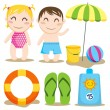 Baby Beach — Stock Vector
