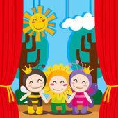 Cute Theater — Stock Vector