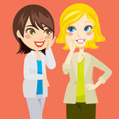 Gossiping Women — Stock Vector