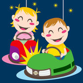 Bumper Cars — Stock Vector
