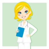 Woman Doctor — Stock Vector