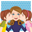 Stock Vector: Kissing Mom
