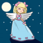 dançando anjo da lua — Vetorial Stock