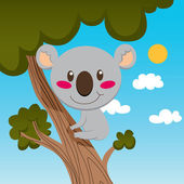 Koala Tree — Stock Vector