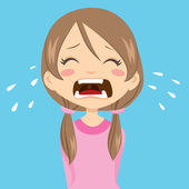 Girl Crying — Stock Vector