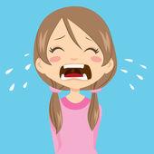 Girl Crying — Stock Vector