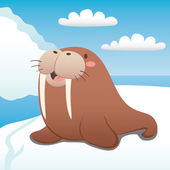 Happy Walrus — Stock Vector