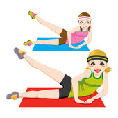 Aerobic Exercise — Stock Vector