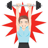 Weight Training — Stockvector