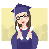 Double Graduation — Stock Vector