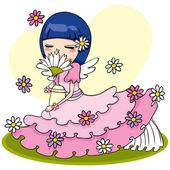 Flower Angel — Stock Vector