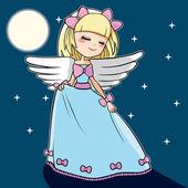 月亮舞蹈天使 — 图库矢量图片