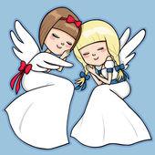 Uyuyan melekler — Stok Vektör