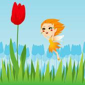 Hada del tulipán — Vector de stock