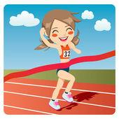 Athlete Woman — Stock Vector