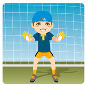 Ready Goalkeeper — Stock Vector