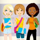 School Friends — Stock Vector