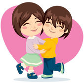 Brother Sister Love — Stock Vector